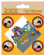 Pack of 5 Beatles Yellow Submarine vinyl peel off decals / stickers    (py)